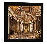 Gerahmtes Bild von Konstantin Andrejewitsch Ukhtomsky Moskau, Prunkwohnzimmer/Ukhtomsky, Kunstdruck im hochwertigen handgefertigten Bilder-Rahmen, 40x30 cm, Schwarz matt