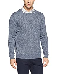 Tommy Hilfiger Mens Cotton Sweater (8907504798339_A7ATS114_L_BLACK IRIS)