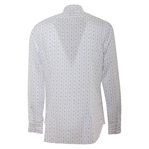 BARBA Herren Langarmshirt weiß Bianco Kragenweite: 41 Bianco