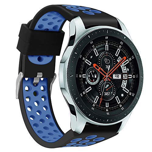 BHYDRY Doppelte Farbe Sport-Silikonarmband-Armband für Samsung Galaxy Watch 46mm