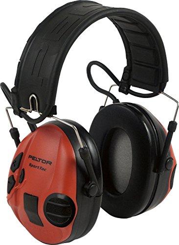 3M Impuls-Kapselgehörschutz, schwarze und rote Schalen, inklusive Batterie AAA, SNR 26 dB, 1 Stück, STAC-RD