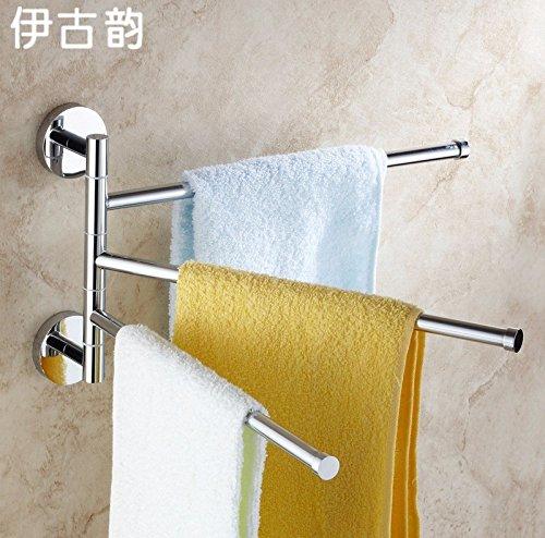 Accessori per il bagno,bagno o della cucina il portasciugamani Supporto per montaggio a parete in rack di storage,organizzare tutto il ripiano con asciugamano e scaldasalviette Rail,solido girevole in ottone asciugamano da bagno,Hardware il par tre