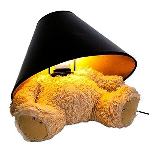 SUCK UK Lampe Ours en peluche Teddy bear Beige et noir Peluche douce Ampoule incluse