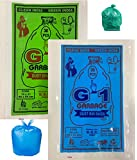 G 1 Medium Disposable Garbage Bags for Wet and Dry Waste (90 Pcs Blue and 90 pcs Green) -3 Packs Each - Total 6 Packs
