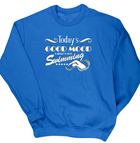 hippowarehouse-todays-good-mood-is-brought-to-you-by-swimming-unisex-jumper-sweatshirt-pullover