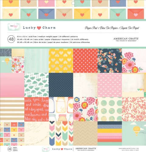 american-crafts-single-sided-paper-pad-12x12-48-pkg-dear-lizzy-lucky-charm