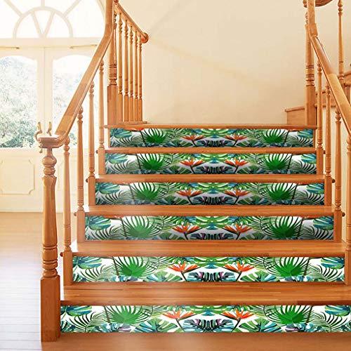 3D Selbstklebende Treppenaufkleber Treppe Steigleitung Abziehbilder Aufkleber Sticker Wandaufkleber Kreative Dekoration Dasongff Angebracht Treppe wasserdicht Mehrfarbig Sticker 18 x600cm