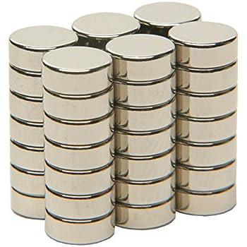 Neodym Magnete 6 x 2 mm Supermagnete hohe Haftkraft Scheibenmagnet N35 25 Stück