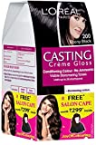 #3: L'Oreal Paris Casting Creme Gloss Hair Color, 2 Ebony Black, 159.5g with Free Salon Cape (Worth Rupees 299)