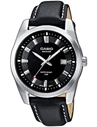 Casio Collection – Herren-Armbanduhr mit Analog-Display und Echtlederarmband – BEM-116L-1AVEF