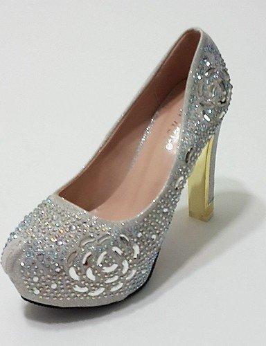 ShangYi Damenschuhe - High Heels - Hochzeit / Kleid / Party & Festivität - Glanz - Stöckelabsatz - Absätze - Silber / Gold golden