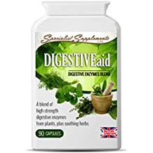 DIGESTIVEaid: digestive enzymes with stomach soothing herbs (90 VegiCaps)