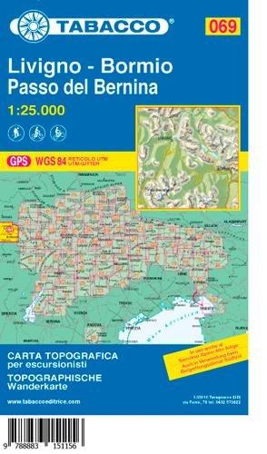 Tabacco Wandern 1 : 25 000 Livigno-Bormio-Passo del Bernina (Wandern Wanderkarten)
