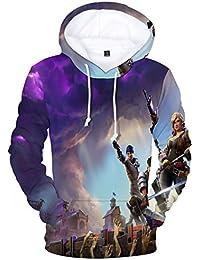 EMILYLE Jungen Sweatshirts Porträt Battle Royale Druck Cool Pullover Spiel  Fans Streetwear für Kinder 95c9938978