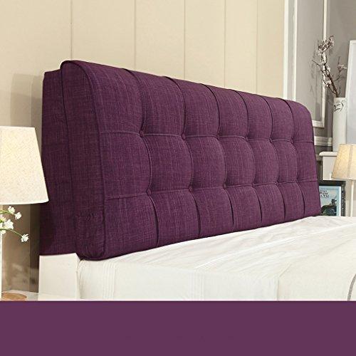 uus Design ergonomique Coussin de chevet Tissu Linge de lit sans soucoupe Grand dossier Ensemble de coussin Housse de lit Big Pillow Pure Color 58 * 190cm ( Couleur : G )