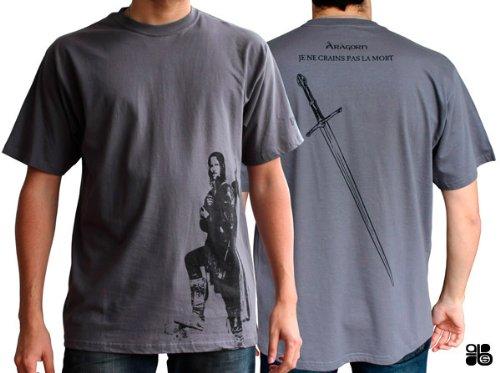 AbyStyle abystyleabytex179-m Abysse Herr der Ring Aragorn FR kurzen Ärmeln Mann Basic T-Shirt (mittel)