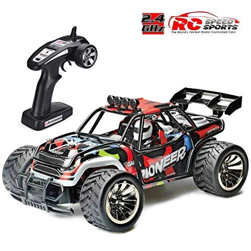 Voiture Télécommandée, RC Voiture Radiocommandee 2WD 1/16 Échelle RC Buggy Course Crawler 2.4Ghz Voiture Electrique RC Camion Haute Vitesse, Hors Route Tout Terrain Costaud