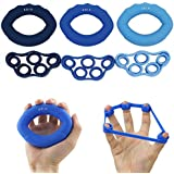 6pcs/Lot Muscle Power Training Silicone Grip Ring Exerciser Strength Finger Hands Grip Fitness Musculation Equipement