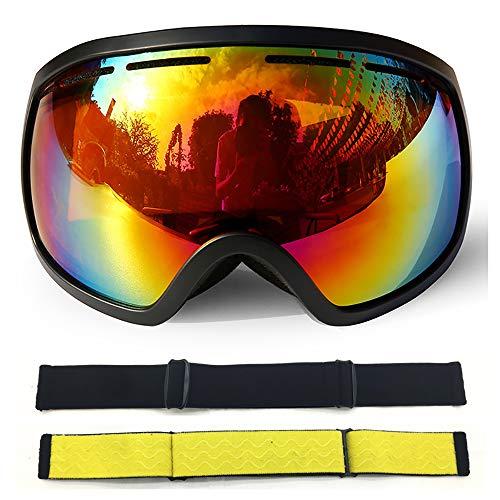 Ski-Brillen-Übergläser Ski/. Snowboard-Brieflle für Männer, Frauen & Jugend-100% UV-Schutz,d