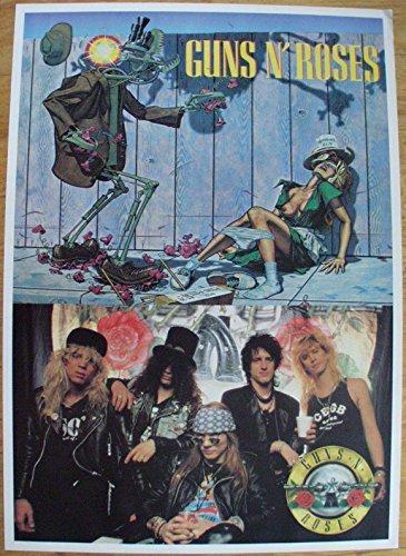 Guns n' Roses Poster Nr. 2 Format 62 x 86 cm Original von 1988 (Euro Gun)