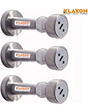 Klaxon Stainless Steel Door Catcher Magnet Set (Silver, Pack of 3)