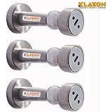 Klaxon Stainless Steel Door Catcher Magnet Set (Silver, Pack of 3)