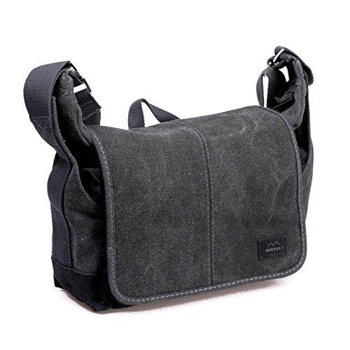 Matin Balade Bag 100 Canvas-Fototasche (Tasche, Kameratasche, Schultertasche, Umhängetasche) für kleine DSLR-Kameras und DSLM-Kameras (schwarz)