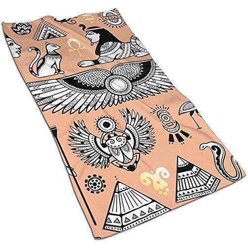 Not applicable Ägypten Symbole Objekte Gesicht Handtuch, Handtuch, Geschirrtücher-Dish 3D Design Pattern Handtuch, Handtücher für die Küche, Reinigung, Kochen