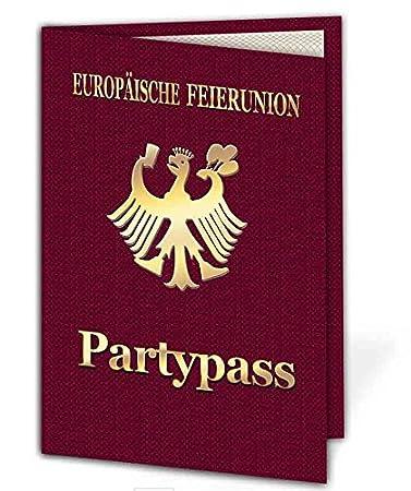 Party Pass Einladungskarten Als Klappkarte Einladung Geburtstag Auf Wunsch  Mit Foto 30 Stück: Amazon.de: Bürobedarf U0026 Schreibwaren