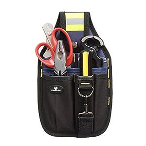 Case4Life Portaherramientas Bolsa de Cinturón – Perfecto para Brivolaje Electricistas Carpinteros y Constructores – Garantía de por vida