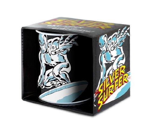 Marvel Comics - Silver Surfer Porzellan Tasse - Kaffeebecher - schwarz - Lizenziertes Originaldesign - LOGOSHIRT