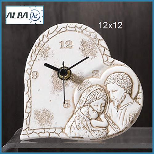 Albalù bomboniere orologio sacra famiglia battesimo comunione cresima (scatola da bomboniera in omaggio)