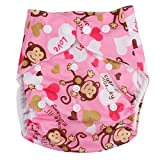 Happy Cherry Bébé Naissances Culottes d'apprentissage Lavables Fille Garçon Anti-fuite Pantalon Couche Avec Bouton Taille Réglable - Singe