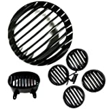 #3: Heavy Metal Headlight Grill plus Indicator Grill set plus Tail Light Grill For Bajaj Avenger 150cc Buysasta_Deals