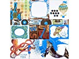 "NEW! Life In Color Foiled Vellum 12""X12""- - Case Pack of 12"