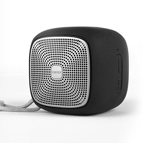 Edifier MP200 Tragbarer Bluetooth Lautsprecher: IP54 Wasser-/Staubdicht mit microSD-Karte. ideal für Wandern, Camping und Outdoor-Aktivitäten - schwarz - Lautsprecher Wireless Wasser Bluetooth