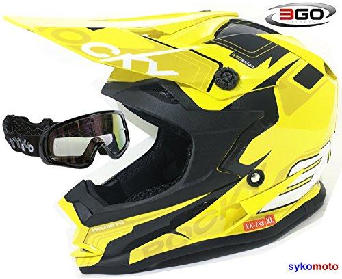 3GO XK188 ROCKY CASCO DE NIÑOS Y NIÑAS MOTOCROSS OFF ROAD ATV...