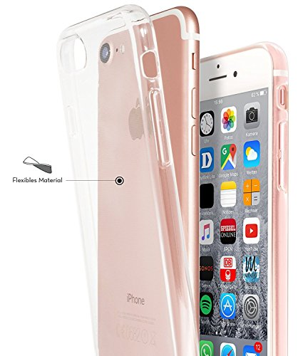 iPhone 7 Custodia coniglio Elefante fiore fragola Animale cover transparente Silicone Case Pacyer® TPU Protettivo Skin Shell Per apple iPhone 7 4.7 cover cartamo
