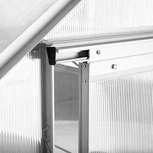 TecTake Aluminium Gewächshaus