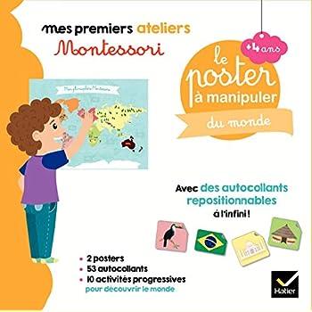 Coffret Montessori poster à manipuler du monde