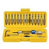 20bits Bohrer Schraubenzieher Kopf Werkzeuge Satz Von Halben Zeit Bohrmaschine Hochgeschwindigkeits-Werkzeuge Box Bau Werkzeugkasten Von Huihong