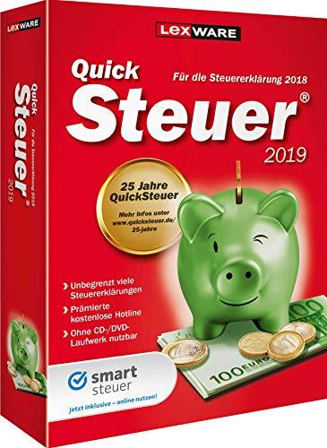 Lexware QuickSteuer 2019 für das Steuerjahr 2018|Einfache und schnelle Steuererklärungs-Software für Arbeitnehmer, Familien, Vermieter, Studenten und Rentner|Kompatibel mit Windows 7 oder aktueller