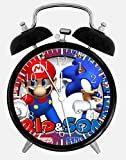 Dekad Super Mario Super Sonic W53 Wecker/Tischuhr, 9,5 cm