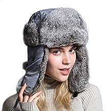 Ferand Cappello Unisex Adulto Trapper con Pelliccia di Coniglio para Sci  Snowboard Inverno 0cdb9a688cc5