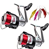 2 x Sea Fishing Reels and FREE Mackerel Feathers