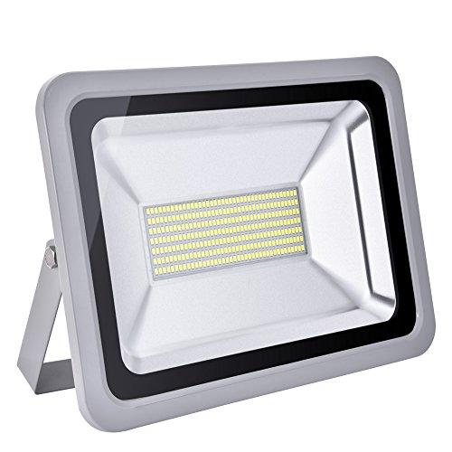 Foco proyector LED 20W/30W/50W/100W/150W/200W/300W/500W/800W para exteriores, 1000LM-56000LM, Blanco frio 6000-6500K resistente al agua IP65, luz amplia, luz de seguridad Floodlight (150)