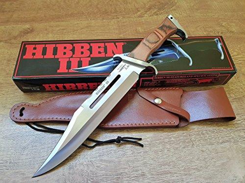 ORIGINAL RAMBO 3 Messer - First Blood Part III - Sylvester Stallone - HIBBEN III Mega Kult Bowie Messer - Gil Hibben Signatur auf Klinge (Leder Hibben Messer)