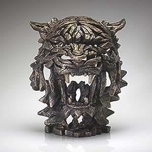 Tigre Buste Sculpture–par bord doré