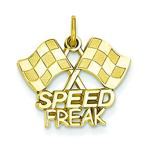 14ct Yellow Gold Racing Flags with Speed Freak Charm