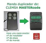 Mando garaje compatible copiador clonador clemsa Mastercode